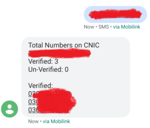 Check Jazz Sims Numbers Through CNIC